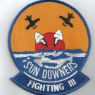 NAVY VF-111 Aviation Fighter Squadron Military Patch SUN DOWNERS FIGHTING 111