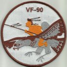 US NAVY VF-90 AVIATION FIGHTER SQUADRON NINE ZERO MILITARY PATCH INDIAN ON BIRD