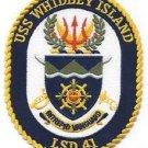 USS WHIDBEY ISLAND LSD-41 DOCK LANDING SHIP MILITARY PATCH INTREPID VANGUARD