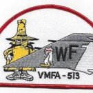 USMC VMFA-513 MARINE FIGHTER ATTACK SQUADRON PHANTOM TAIL MILITARY PATCH - SPOOK