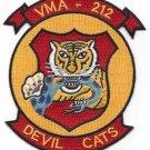 USMC VMA - 212 ATTACK AIRCRAFT WING SQUADRON MILITARY PATCH DEVIL CATS