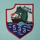United States NAVY Vietnam River Division 533 Military Patch - Dragon
