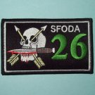 US ARMY Co B 1st Bn Mtn Special Forces Group SFODA-026 Military Patch SKULL
