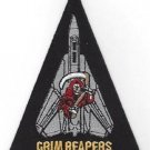US NAVY VF-101 AVIATION FIGHTER SQUADRON MILITARY PATCH GRIM REAPERS TRIANGLE