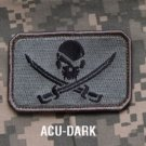 PIRATE SKULL FLAG ACU DARK OPS TACTICAL BADGE MORALE ISAF VELCRO MILITARY PATCH