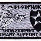 ARMY Task Force 1-9th Infantry Regiment Military Patch MANCHU SHOW STOPPERS