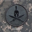 SPARTAN - ACU DRK - TACTICAL BADGE BLACK OPS COMBAT MORALE VELCRO MILITARY PATCH