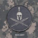 SPARTAN - ACU LITE- TACTICAL BADGE BLACK OPS COMBAT MORALE VELCRO MILITARY PATCH