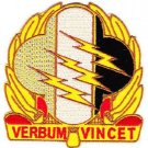 ARMY 4th Psychological Operations Group Military Patch Psych Ops VERBUM VINCET