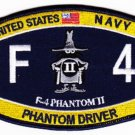 US NAVY F-4 Phantom II Military Patch PHANTOM DRIVER SPOOK RATING