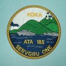 USS KOKA ATA 185 OCEAN TUG MILITARY PATCH - SERVGRU ONE - US NAVY