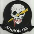 ATKRON 133 (VA-133) US NAVY ATTACK SQUADRON BLUE KNIGHTS MILITARY PATCH SKULL
