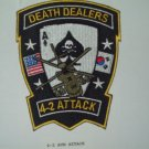 4-2 ATTACK AVIATION REGT AIR CAVALRY DEATH DEALERS MILITARY PATCH