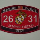 2631 ELINT US Marine Corps Military MOS Patch - SEMPER FIDELIS