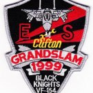 NAVY VF-154 AVIATION FIGHTER SQUADRON MILITARY PATCH BLACK KNIGHTS EMS GRANDSLAM