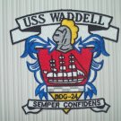 DDG-24 USS WADDELL GUIDED MISSILE DESTROYER MILITARY PATCH - SEMPER CONFIDENS