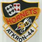 US NAVY ATTACK SQUADRON 44 VA-44 ATKRON 44 MILITARY PATCH - HORNETS
