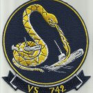 VS-742 SEA CONTROL AIR ANTISUBMARINE SQUADRON MILITARY PATCH SNAKE