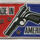 MADE IN AMERICA HAND GUN  MOTORCYCLE JACKET BIKER VEST MORALE MILITARY PATCH