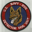 US NAVY RVN DETECTOR DOG UNIT - REPUBLIC OF VIETNAM K9 MILITARY PATCH