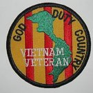 VIETNAM VETERAN * GOD * DUTY * COUNTRY * MILITARY PATCH