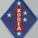 USMC - 1st MARINE DIVISION KOREA -  MILITARY PATCH - FIRST MARINE - MARINE CORPS