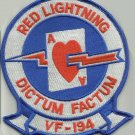 US NAVY VF-194 AVIATION FIGHTER SQUADRON MILITARY PATCH RED LIGHTNING