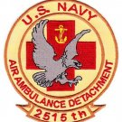US NAVY AIR AMBULANCE DETACHMENT 2515th MILITARY PATCH OIF OEF IRAQ