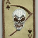 BR ACE OF SPADES DEATH CARD SKULL REAPER MOTORCYCLE JACKET BIKER MILITARY PATCH