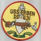 USS ERBIN DD-631 FLETCHER-CLASS DESTROYER MILITARY PATCH PETINUS AC DELEMUS