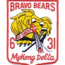 "ARMY 31st Infantry Regiment ""Bravo Bears"" Mekong Delta Military Patch - VIETNAM"