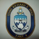T-AKE 4 USNS RICHARD E. BYRD Dry Cargo Ammunition Ship MILITARY PATCH
