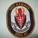 DDG-61 USS Ramage Guided Missile Destroyer Military Patch PAR EXCELLENCE