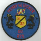USS HENRY W. TUCKER DD-875 GEARING CLASS DESTROYER MILITARY PATCH