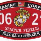 "USMC ""FIELD RADIO OPERATOR"" 0621 MOS MILITARY PATCH SEMPER FIDELIS"