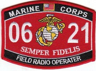"USMC ""FIELD RADIO OPERATOR"" 0621 MOS MILITARY PATCH SEMPER FIDELIS"