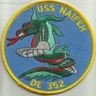 USS NAIFEH DE 352 BUTLER-CLASS DESTROYER ESCORT SHIP MILITARY PATCH - DRAGON