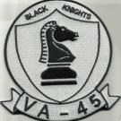 US NAVY ATTACK SQUADRON VA 45 MILITARY PATCH BLACK KNIGHTS