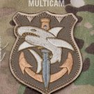 TACTICAL SHARK MULTICAM SPECIAL OPS TACTICAL BADGE MORALE VELCRO MILITARY PATCH