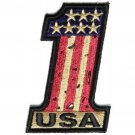 VINTAGE STYLE #1 USA FLAG MOTORCYCLE BIKER JACKET VEST MORALE MILITARY PATCH