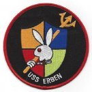 USS ERBIN DD-631 FLETCHER-CLASS DESTROYER MILITARY PATCH PLAYBOY BUNNY