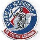 US COAST GUARD AIR STATION SAVANNAH GEORGIA MILITARY PATCH STORM WARRIORS