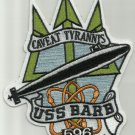 BARB SSN-596 Permit - Class Attack Submarine Military Patch CAVEAT TYRANNIS