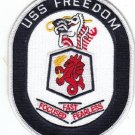 USS FREEDOM LCS-1 Littoral Combat Ship Military Patch FAST FOCUSED FEARLESS