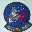 "USN F-14 TOMCAT ""ANY TIME MATE""  VF - 51 MILITARY PATCH"