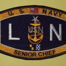 United States NAVY Deck Rating Senior Chief Legalman Military Patch - LNCS