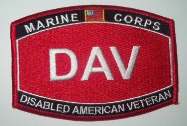 UNITED STATES MARINE CORPS DISABLED AMERICAN VETERAN MILITARY PATCH MOS - DAV
