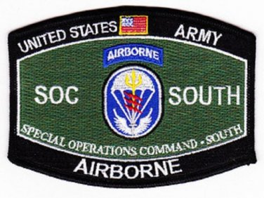 Special Operations Command MOS Rating Military Patch SOC SOUTH AIRBORNE