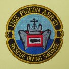 USS PIGEON (ASR-21) RESCUE DIVING SALVAGE MILITARY PATCH