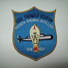 USS THOMAS EDISON SSN 610 BALLISTIC MISSILE SUBMARINE MILITARY PATCH
